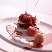 Chef Andreas Mayer of Restaurant MAYER's in Austria - Raspberry Variations