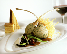 Chef Andreas Mayer of Restaurant MAYER's in Austria - Veal Crepinettes