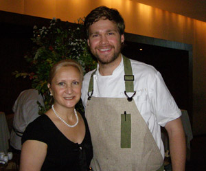 Debra C. Argen and Chef Marcus Jernmark - photo by Luxury Experience