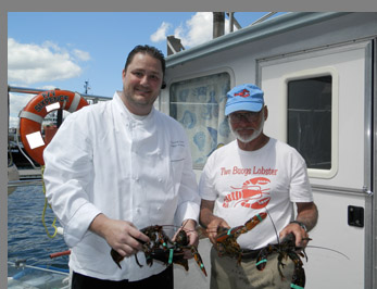 Chef Adamo and Captain Fred Penney - photo by Luxury Experience
