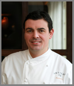 Chef/Partner Frederic Kieffer of Artisan Restaurant, Tavern & Garden, Southport, CT, USA