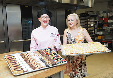 Executive Pastry Chef Kayline Johnson and Debra C. Argen - photo by Luxury Experience