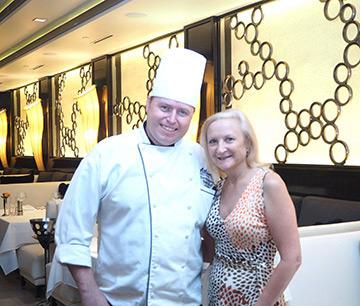 Chef Darren Stanley, Debra C. Argen - photo by Luxury Experience