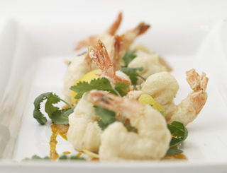 Shrimp Tempura by Chef Charlie Palmer - Photo by Bill Milne