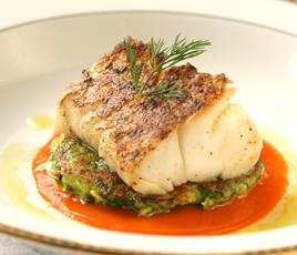 New England Cod - Chef Christopher Brooks - Blantyre, Lenox, Massachusetts, USA (photo by Sean McLaughlin)