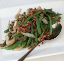 Culinary Institute of America Holiday Boot Camp - Green Beans and Bacon