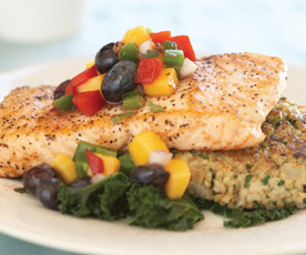 Salmon with Blueberry Mango - Chef Scott Uehlein - Canyon Ranch