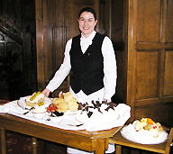 Caren Serving Afternoon Tea