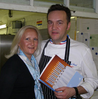 Debra C. Argen and Chef Emmanuel Renaut of Flocons de Sel in France
