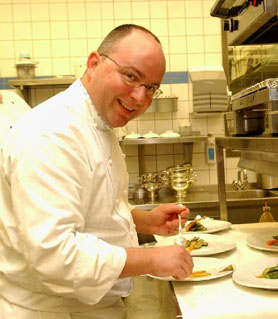 Chef de Cuisine Christian Lohse of Fischers Fritz in Berlin, Germany