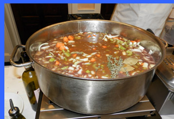Cooking Meat, Vegetables, and Wine - A Taste of New England - Saybrook Point Inn & Spa - Photo by Luxury Experience