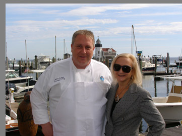 Chef John Cortesi, Debra C. Argen - Fresh Salt Restaurant - photo by Luxury Experience