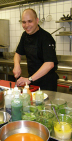 Chef Bjorn A. Panek of Gariele Gaststatte, Berlin, Germany