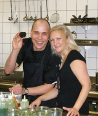 Chef Bjorn A. Panek of Gabriele Restaurant, Berlin, Germany and Debra C. Argen