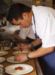 Executive Chef Rob Stella at Glenmere Mansion, Chester, New York