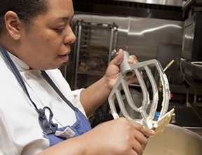 Executive Pastry Chef Taiesha Martin of The Supper Room at Glenemere Mansion, Chester, New York