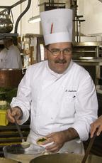 Chef Hans Nussbaumer of Rotisserie des Chevaliers at Kulm Hotel St. Moritz