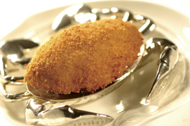 Executive Chinese Chef Ip Chi Cheung of the Kowloon Shangri-La in Hong Kong - Deep Fried Stuffed Crab Shell