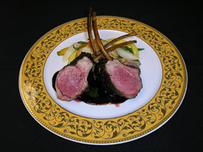Rack of Lamb from The Jockey Club at The Fairfax at Embassy Row, Washington, DC, USA