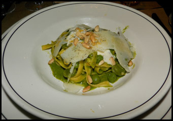 Fettuccine Pesto Pasta  - Ken & Cook Restaurant & Bar, New York, USA - photo by Luxury Experience