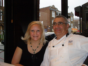 Debra Argen and Chef Robert Saulnier at Restaurant Le Graffiti, Quebec City, Canada - Photo by Luxury Experience