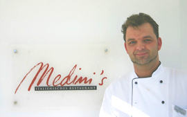 Chef Marco Del Core of Medini's at Grand Hotel Heiligendamm, Germany