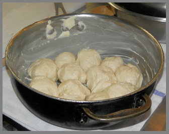 Dinner Rolls ready for oven - Chef Harold Moore - photo by Luxury Experience