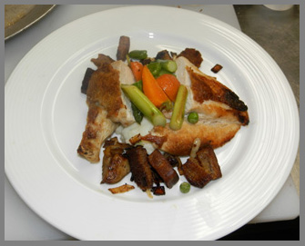 Roasted Chicken and Foie Gras Stuffing - Chef Harold Moore - photo by Luxury Experience