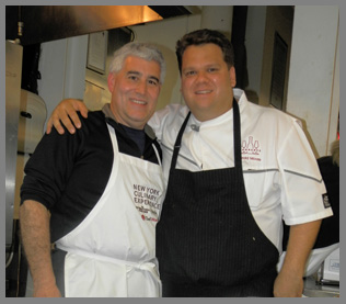 Chef Harold Moore and Edward Nesta - photo by Luxury Experience