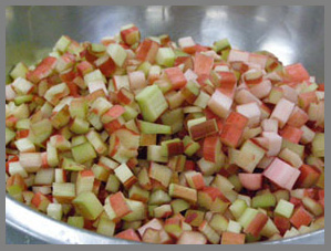 Diced Rhubarb  - photo by Luxury Experience