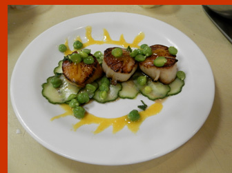Scallops with Lemon and Tarragon - New York Culinary Experience - photo by Luxury Experience
