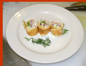 Smoked Trout Crepes - New York Culinary Experience - photo by Luxury Experience