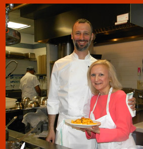 Chef Chris Jaeckle and Debra Argen - New York Culinary Experience - photo by Luxury Experience