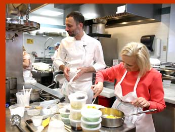 Chef Chris Jaeckle, Debra C. Argen - New York Culinary Experience - photo by Luxury Experience