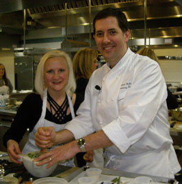 Debra Argen and Chef Michael Anthohy - New York Culinary Experience - Photo by Luxury Experience