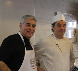 Edward Nesta and Pastry Chef Brooks Headley - New York Culinary Experience - Photo by Luxury Experience