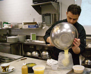 Chef Salvatore Martone at work - New York Culinary Experience - Photo by Luxury Experience