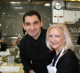 Chef Christophe Bellanca and Debra Argen - New York Culinary Experience - Photo by Luxury Experience