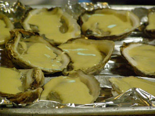 Oysters with Sauce ready ot Broil - Chef Michel Nischan New York Culinary Experience - Photo by Luxury Experience