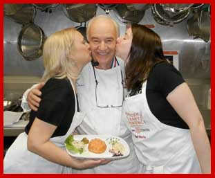 Chef Andre Soltner with students Debra Argen and Charleen Hunt - New York Culinary Experience - photo by Luxury Experience