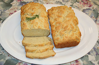 Cheddar and Rosemary Quick Bread- photo by Luxury Experience