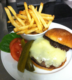 Burger with Onion Jam - Parlour at Roger Hotel New York - photo by Luxury Experience