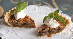 Bourbon Chocolate Pie slices from Ralph Brennan's New Orleans Seafood Cookbook