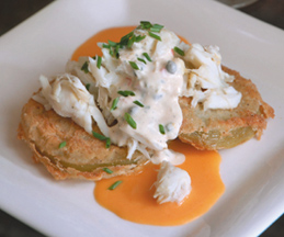 Fried Green Tomatoes from Ralph Brennan's New Orleans Seafood Cookbook