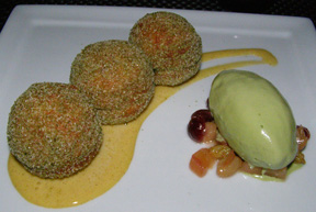 Green Tea Donuts by Executive Chef Jimmy Lappalainen of Riingo at The Alex Hotel, New York