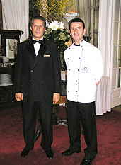 Chef Gaetano Costa and Andrea Lombardi