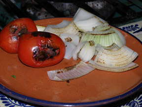 Mole Poblano Ingredients - Tomatoes and Onions