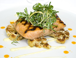 The Saddle Room, The Shelbourne Hotel, Dublin, Ireland - Gin and Tonic Grilled Salmon