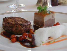 Chef Phillip Brazil - Sheen Falls Lodge, Kenmare, County Kerry, Ireland - Pork Dish