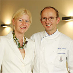 Lucia and Chef Felix Essisser of Spice, Zurich, Switzerland